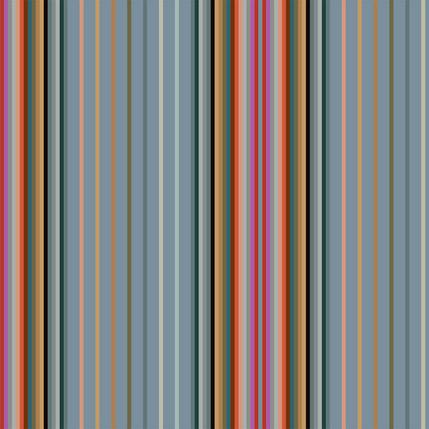Market Stall Stripe Fabric Design (Cornflower colorway)