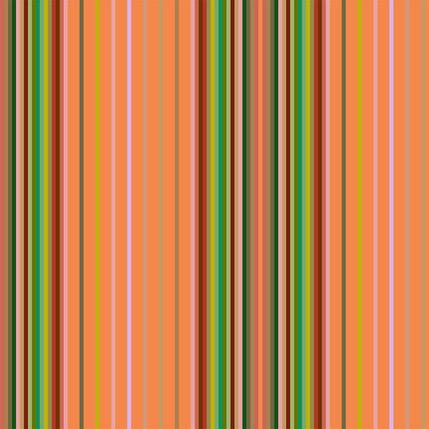 Market Stall Stripe Fabric Design (Papaya colorway)