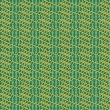 Flower Basket Stripe Fabric Design (Artemesia Green colorway)