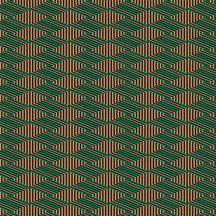 Flower Basket Stripe Fabric Design (Manzanita - Green Peach colorway)