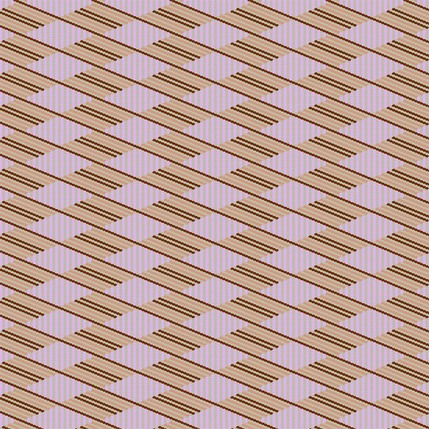 Flower Basket Stripe Fabric Design (Mariposa Lily - Lilac Beige colorway)