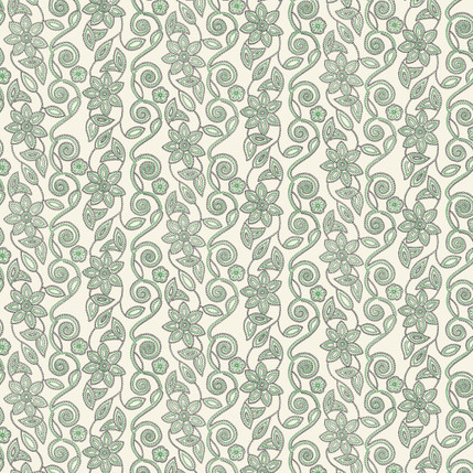 Stitch in Vine Fabric Design (Leaf colorway)