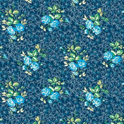 Sonnet Fabric Design (Deep Lagoon)