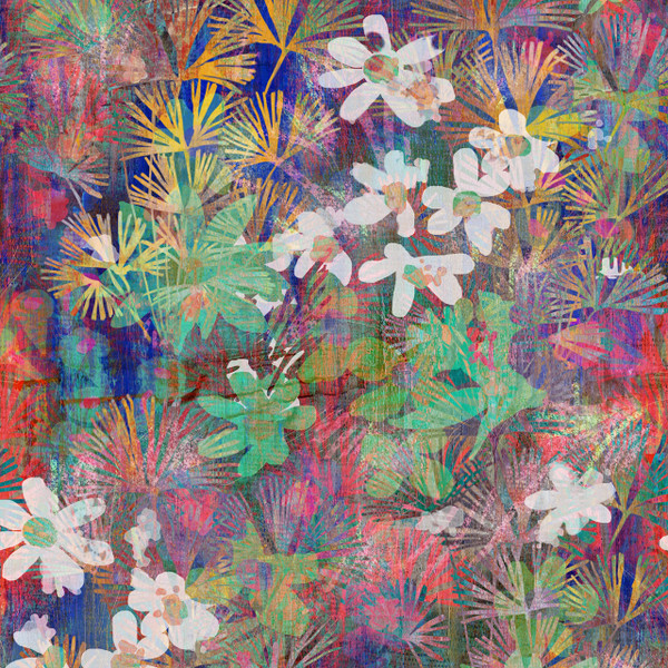 Serena - Tropical Fabric By The Yard