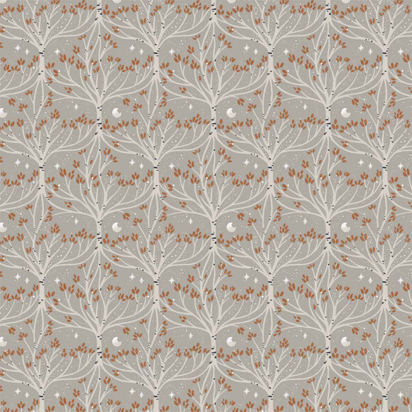 """Root and Branch Mini in Beige - image represents 27"""" of printed fabric"""