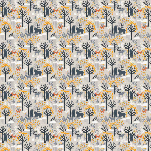 """Night Forest Mini - image represents 27"""" of printed fabric"""