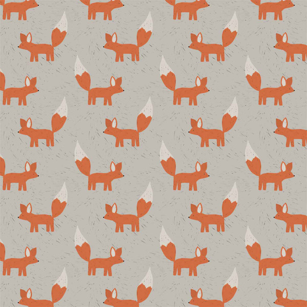 """Foxes - image represents 27"""" of printed fabric"""