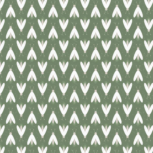 """Fireflies - image represents 27"""" of printed fabric (Green)"""