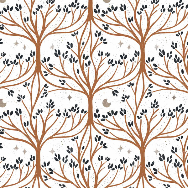 """Root and Branch image represents 27"""" of printed fabric"""