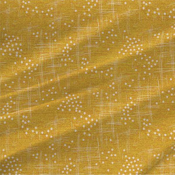 Wind Abstract Fabric in Golden Yellow