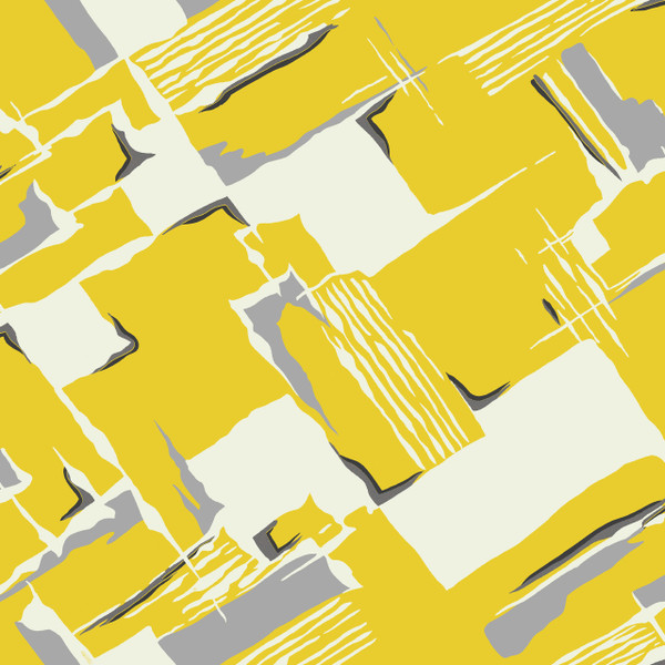 Tilt - Abstract Fabric By The Yard - Marigold Yellow