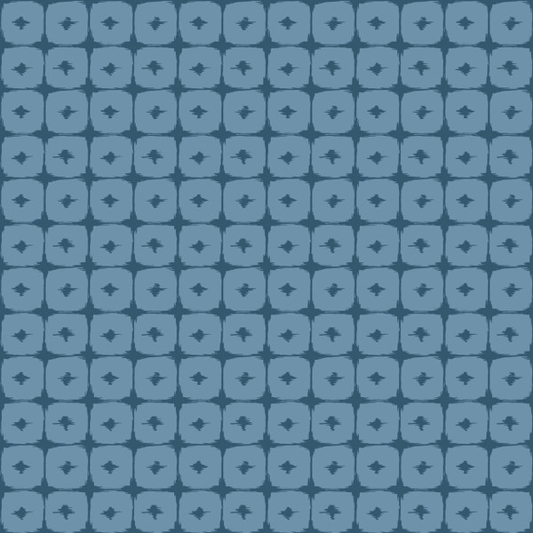 Boxed In - Geometric Fabric By The Yard shown in Denim Patch