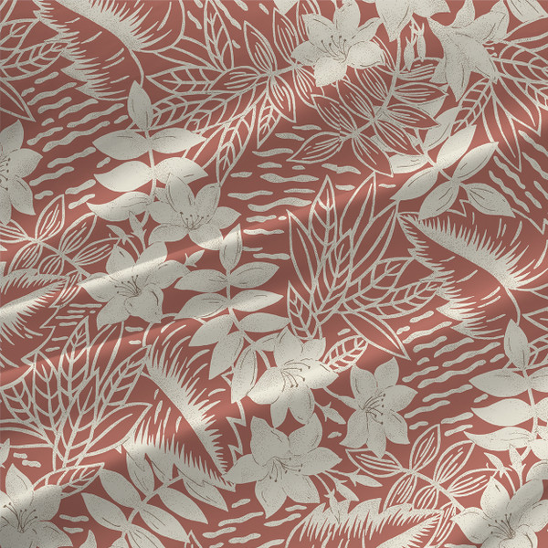 Garden Toile Floral Custom Fabric Printing Shop The Textile