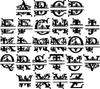 Metal Regal Monogram with Name