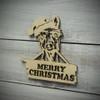 Merry Christmas Llama Ornament