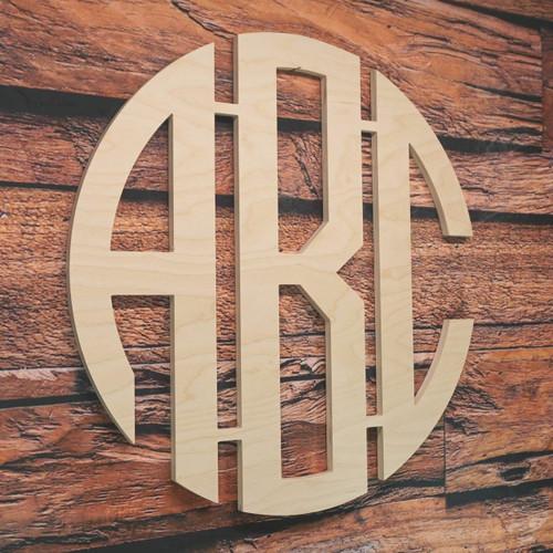 3 Letter Monogram Circle