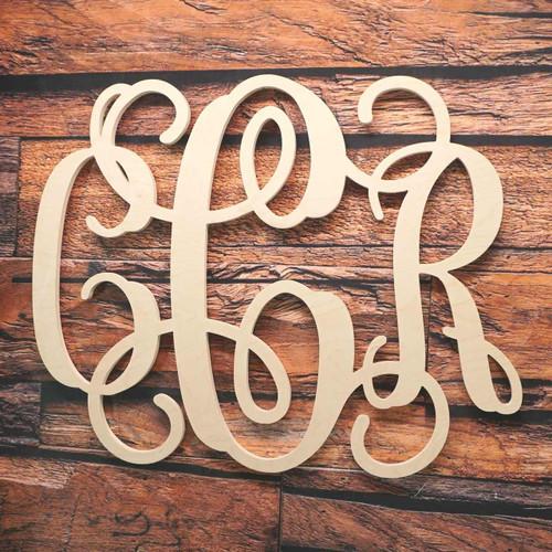 3 Letter Monogram Vine