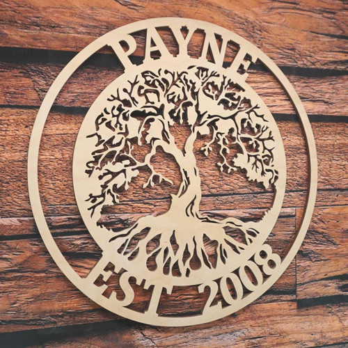 Tree of Life with Name and Date