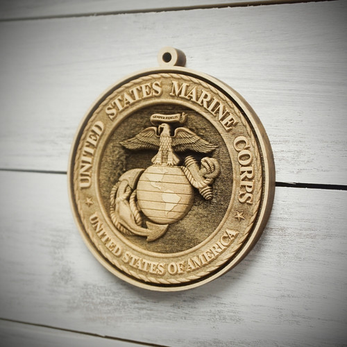 Military Tribute Marine Ornament