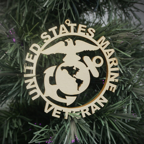Military Veteran Marine Ornament