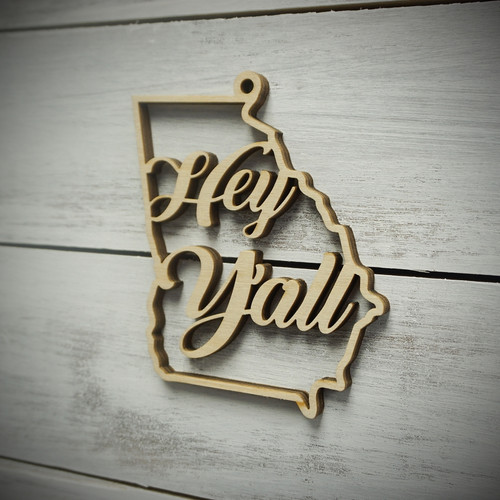 Georgia Hey Y'All Ornament