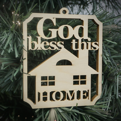 God Bless This Home Ornament