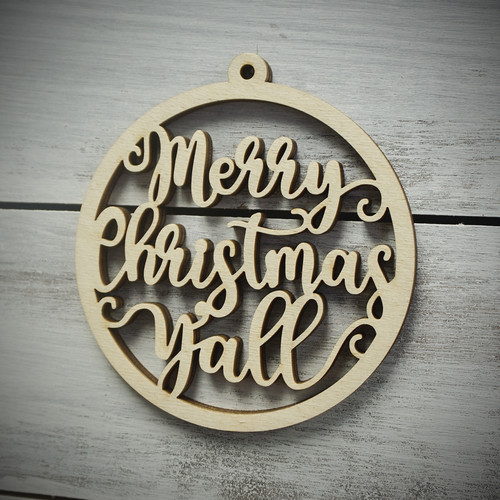 Merry Christmas Y'all Ornament