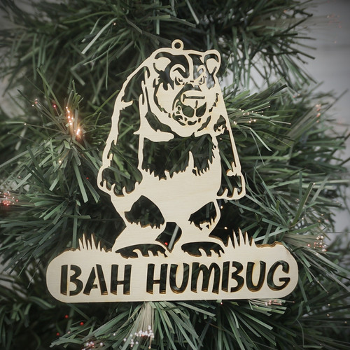 Bah Humbug Bear Ornament