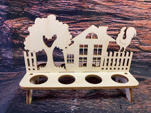 Easter Egg Holder Farmhouse with Rooster
