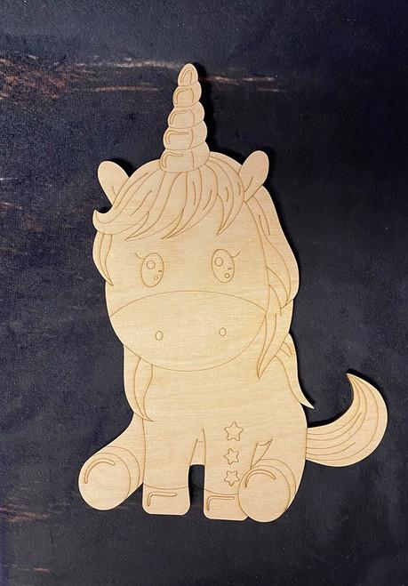 Unicorn Paint By Line