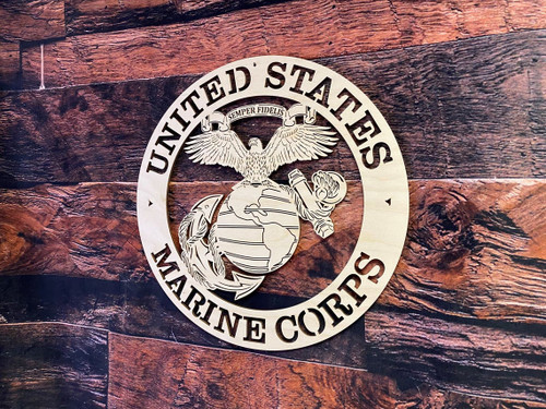 Military Wood Plaque USMC