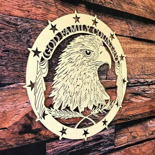 God Family Country Wood Plaque