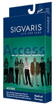 Sigvaris 972C Access 20-30 mmHg Closed Toe Calf High Compression Stockings for Women