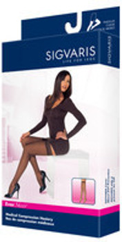 Sigvaris 782N EverSheer 20-30 mmHg Open Toe Thigh High Compression Stockings