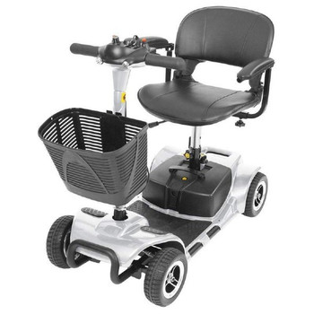 silver 3 wheel travel scooter