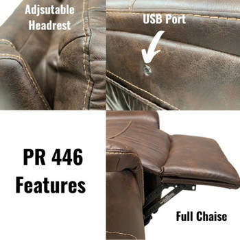 PR446 Lift chair features