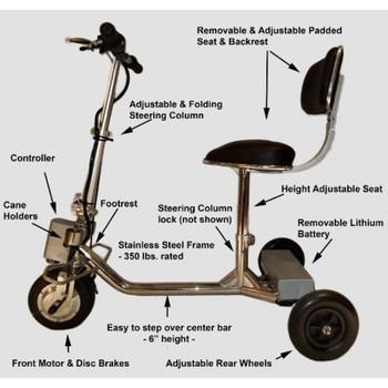 Handyscoot specifications