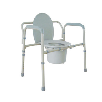 Heavy Duty Bariatric Folding Bedside Commode Seat - 11117n-1