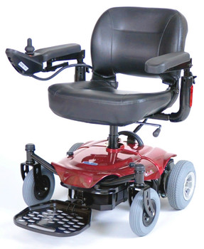 Red Cobalt X23 Power Wheelchair - cobaltx23rd16fs