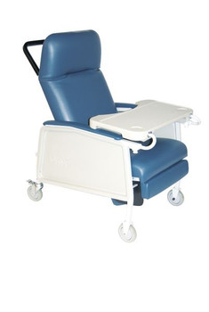3 Position Heavy Duty Bariatric Blue Ridge Geri Chair Recliner - d574ew-br