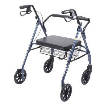 Heavy Duty Bariatric  Rollator Walker with Padded Seat - 10215bl-1