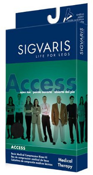 Sigvaris 972C Access 20-30 mmHg Open Toe Calf High Unisex Compression Stockings