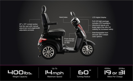 Raptor 3-Wheel  Mobility Scooter