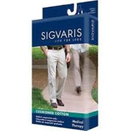 Sigvaris Cushioned Cotton for Men 15-20 mmHg Knee High 182C