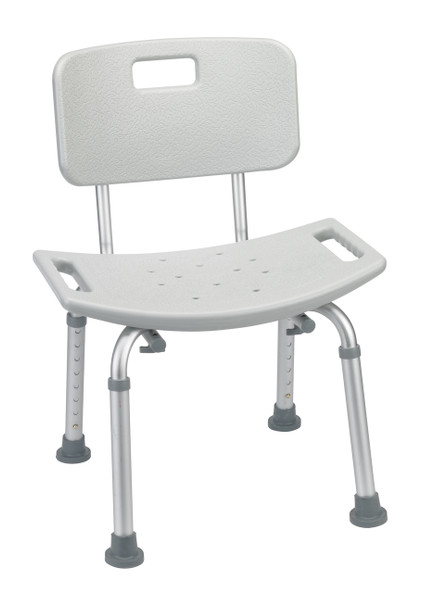 Grey Bathroom Safety Shower Tub Bench Chair with Back - rtl12202kdr