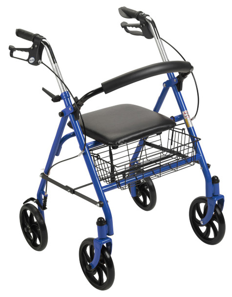 Four Wheel Rollator Walker with Fold Up Removable Back Support Blue - 10257bl-1