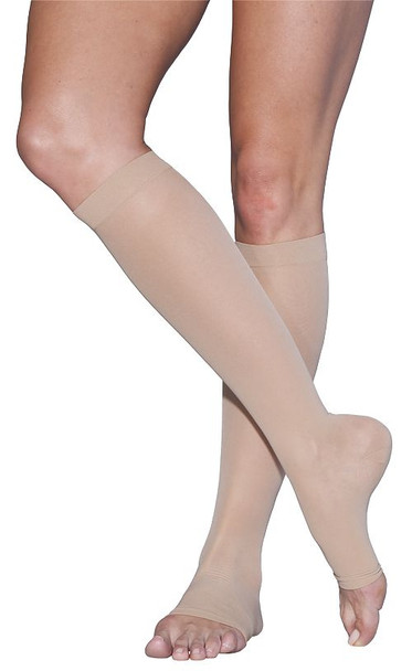 Sigvaris 780 EverSheer 15-20 mmHg Compression Women's Open Toe Knee Highs - 781COT