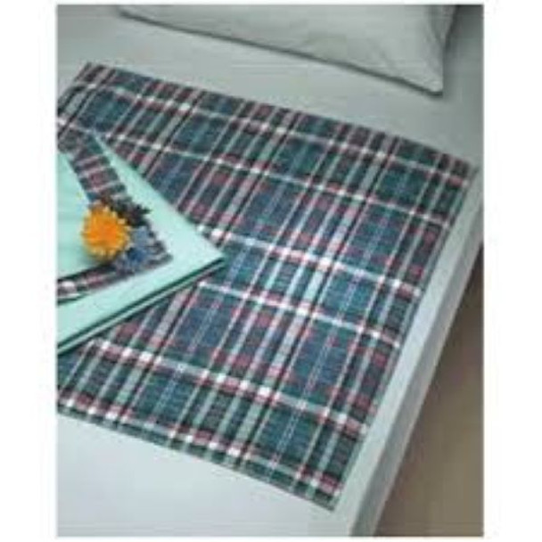 Underpad Plaidbex® 30 X 36 Inch Reusable Fluff Light Absorbency Bed Pad