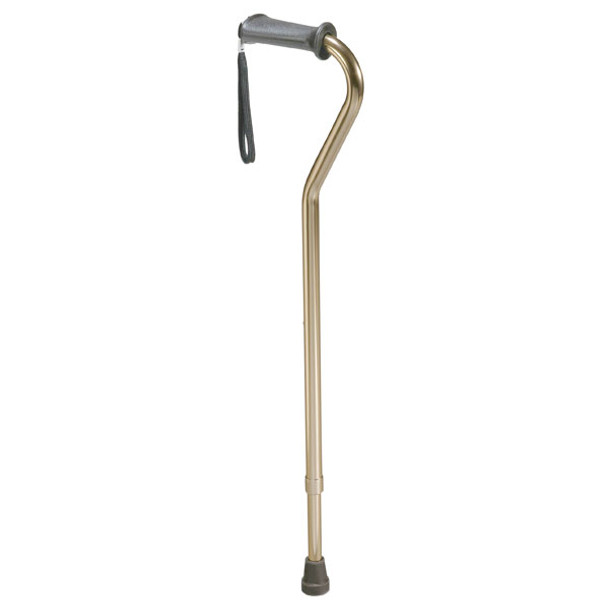 Rehab Ortho K Grip Offset Handle Cane with Wrist Strap - 10350-1