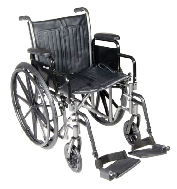 Wheelchair McKesson Padded, Removable Composite Black